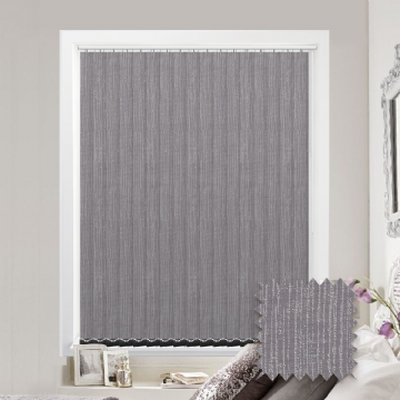 Made to Measure Tree Bark Mauve Vertical Blind